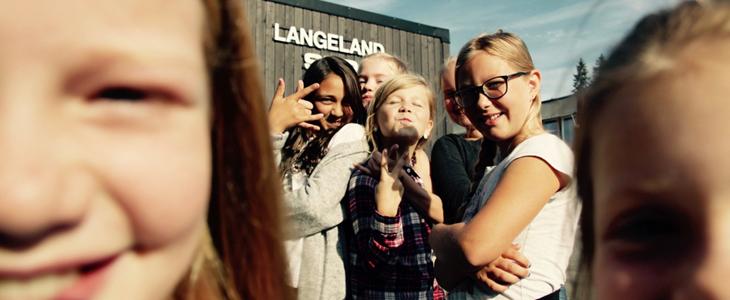 Langeland skole bilde av barn