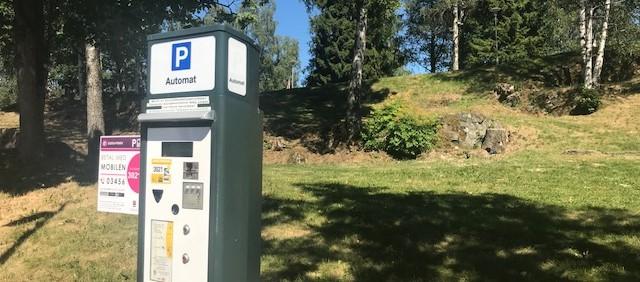 Viser bilde av en parkeringsautomat