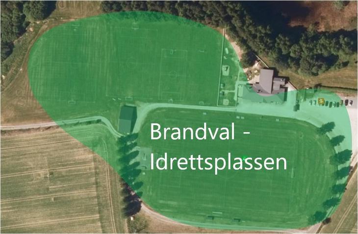 Kart Brandval Idrettsplass