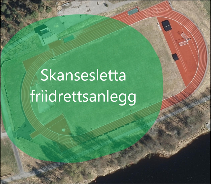 Kart Skansesletta friidrettsanlegg