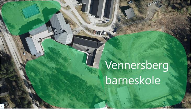 Kart Vennersberg barneskole