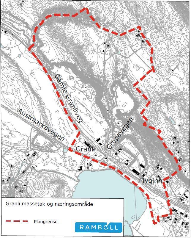 Kart over granliterminalen
