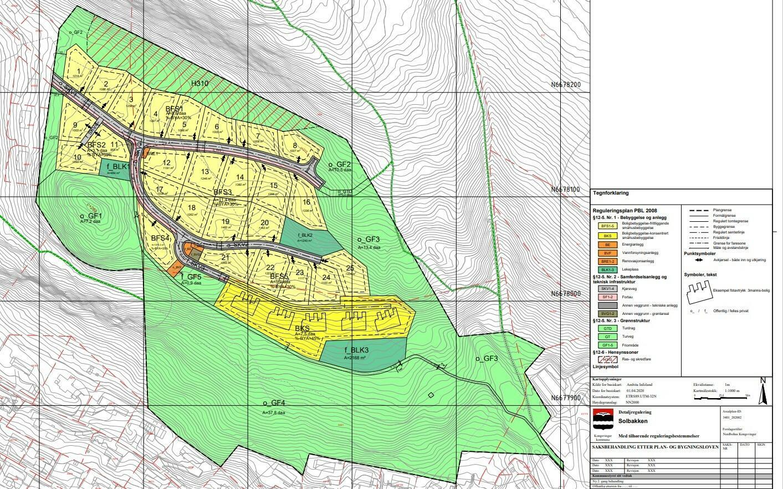 Kart over Solbakken